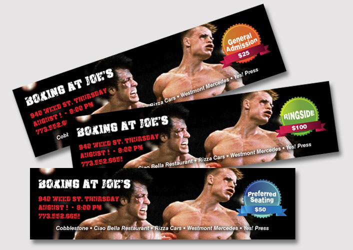 Boxing At Joe's - Tickets