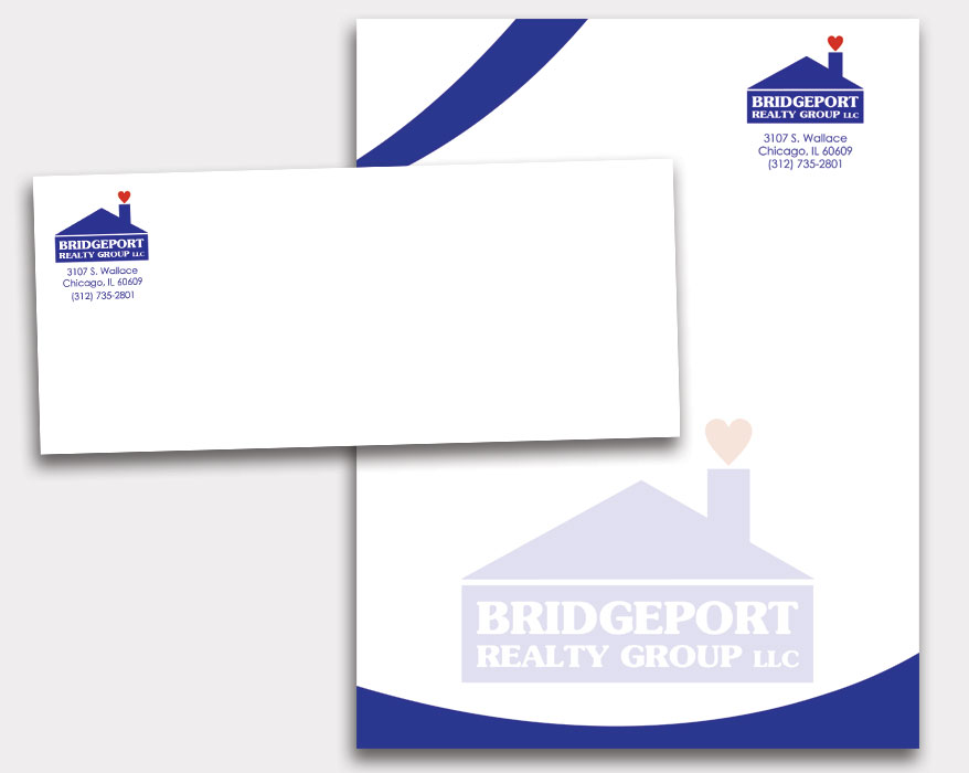 Bridgeport Realty - Letterhead and Envelope