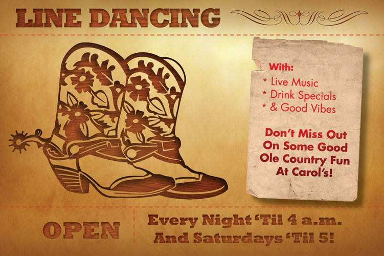 Carol's Line Dance Flyer (back)