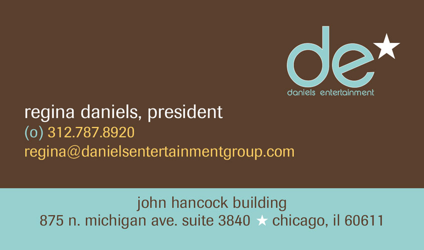 Daniels Entertainment Business Card: Version 1