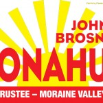 Donahue political lawn sign designed by Alejandro Dowling