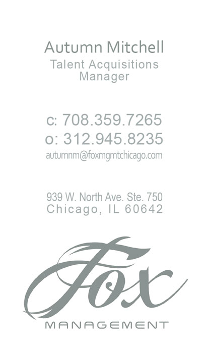 Fox Mgmt Business Card (back)