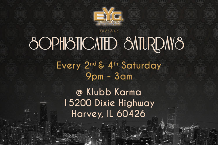 Sophisticated Saturdays - Flyer (front)