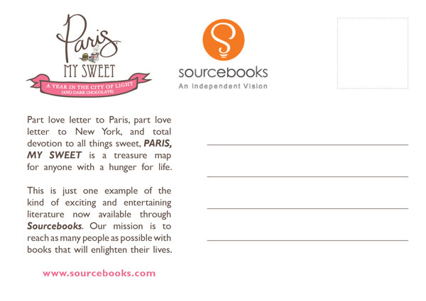 Sourcebooks - Paris My Sweet - Postcard (back)