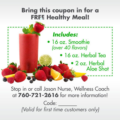 Total Focus Nutrition - Coupon (back)