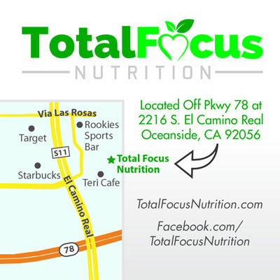 Total Focus Nutrition - Coupon (front)