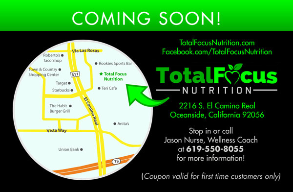 Total Focus Nutrition - Flyer (back)