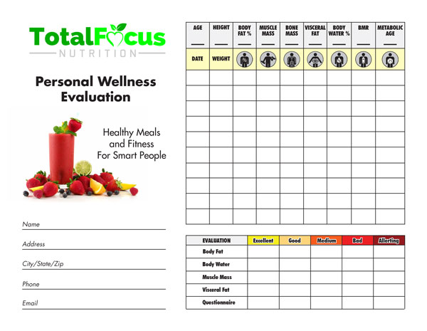 Total Focus Nutrition - Wellness Evaluation
